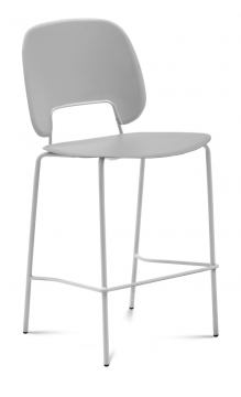 Domitalia Traffic-Sga Stacking Chair in Light Grey and White TRAFF.R.A0F.BI.PGC