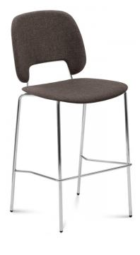 Domitalia Traffic-Sga Stacking Chair in Brown and Chrome TRAFF.R.A0F.CR.8IW