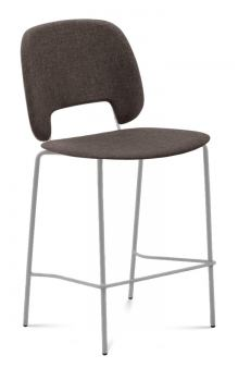 Domitalia Traffic-Sgb Stacking Chair in Brown and Sand TRAFF.R.B0F.SA.8IW