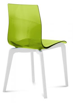 Domitalia Gel Chair in Green and White GEL.S.LSF.LBOS.SVE (Set of 2)
