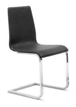 Domitalia Jude-Sp Chair in Black and Chrome JUDE.S.00F.CR.7JR (Set of 2)