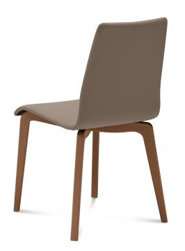 Domitalia Jude-L Chair in Taupe and Walnut JUDE.S.LSF.NCA.7JI (Set of 2)