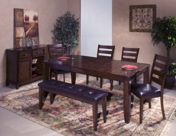 Intercon Furniture Kona 7-Piece Dining Set with Butterfly Leaf in Raisin