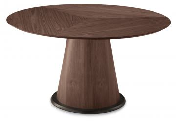 Domitalia Palio-152 Round Dining Table in Chocolate