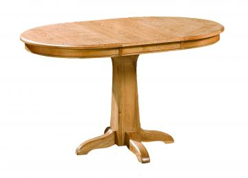 Intercon Furniture Family Round Pedestal Dining Table in Chestnut