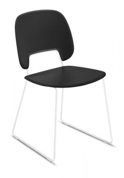 Domitalia Traffic-T Stacking Chair in Black and White TRAFF.S.T0F.BI.PNE (Set of 2)