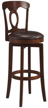 Hillsdale Plainview Corsica Swivel Bar Stool in Brown (Set of 2) 4166-832