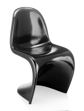 Zuo Modern S Chair Black (Set of 2) 103181