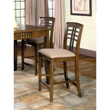 Coaster Rich Walnut Counter Height Chair (Set of 2)