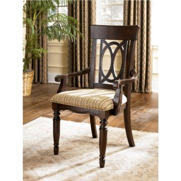 Leighton Arm Chairs (Set of 2) in Dark Brown