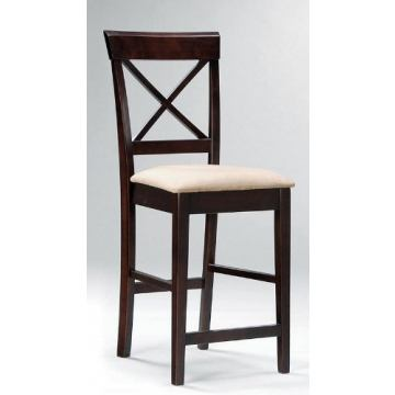 Coaster Rich Cappuccino Counter Height Stool w/Cross Back (Set of 2)