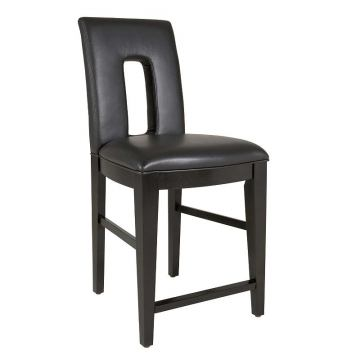 Broyhill Perspectives Leather Upholstered Counter Stool in Graphite 4444-592 (Set of 2)