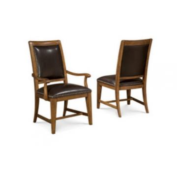 A.R.T. Copper Ridge Leather Upholstered Back Side Chair (Set of 2)