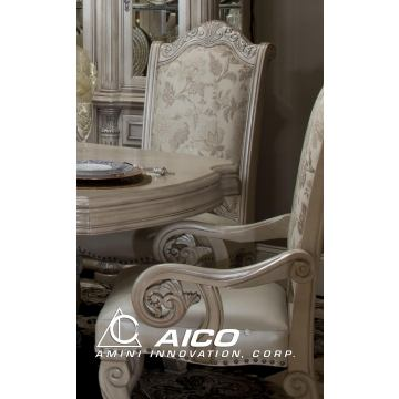 AICO Monte Carlo II Arm Chair in Silver Pearl (Set of 2)