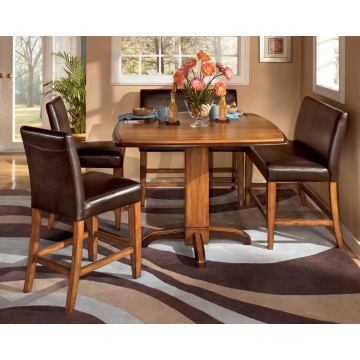 Urbandale 5-pc Counter Height Table Set w/Double Stools