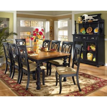 Brush Hollow Dining Room Set in Black