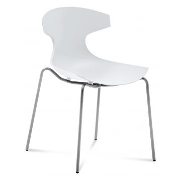 Domitalia Echo Stacking Chair in White (Set of 2)