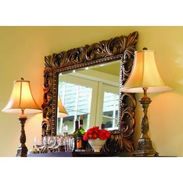 Lexington Palos Verdes Grande Vista Mirror in Russet Brown