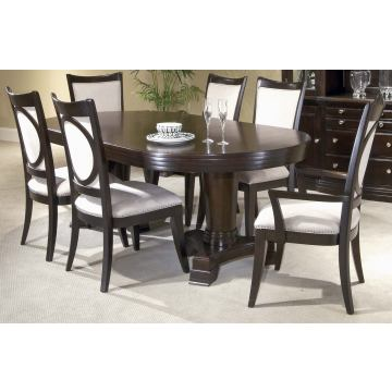 Broyhill Affinity 7-pc Double Pedestal Table Set in Cafe