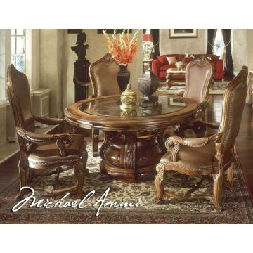 AICO Tuscano Round Dining Table in Biscotti