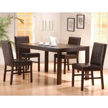 Coaster 5pc Dining Set in Cappuccino 100961S