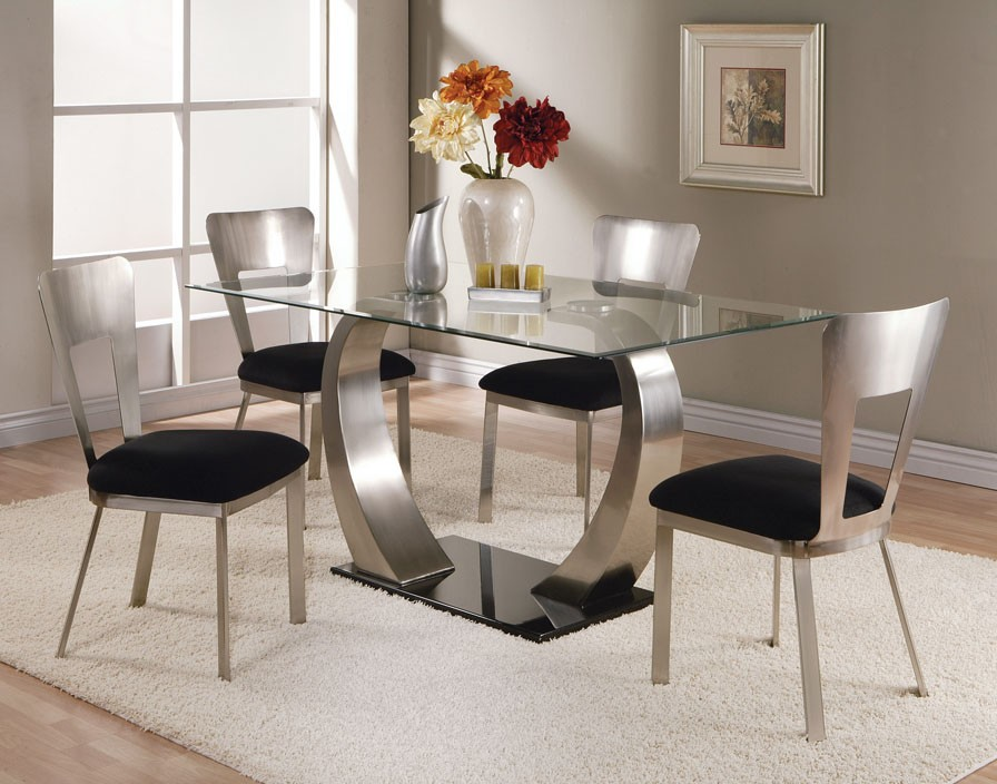 Acme Camille 5 pc Glass Top Metal Base Rectangular Dining  : 10090set2 from www.diningroomsoutlet.com size 896 x 704 jpeg 128kB