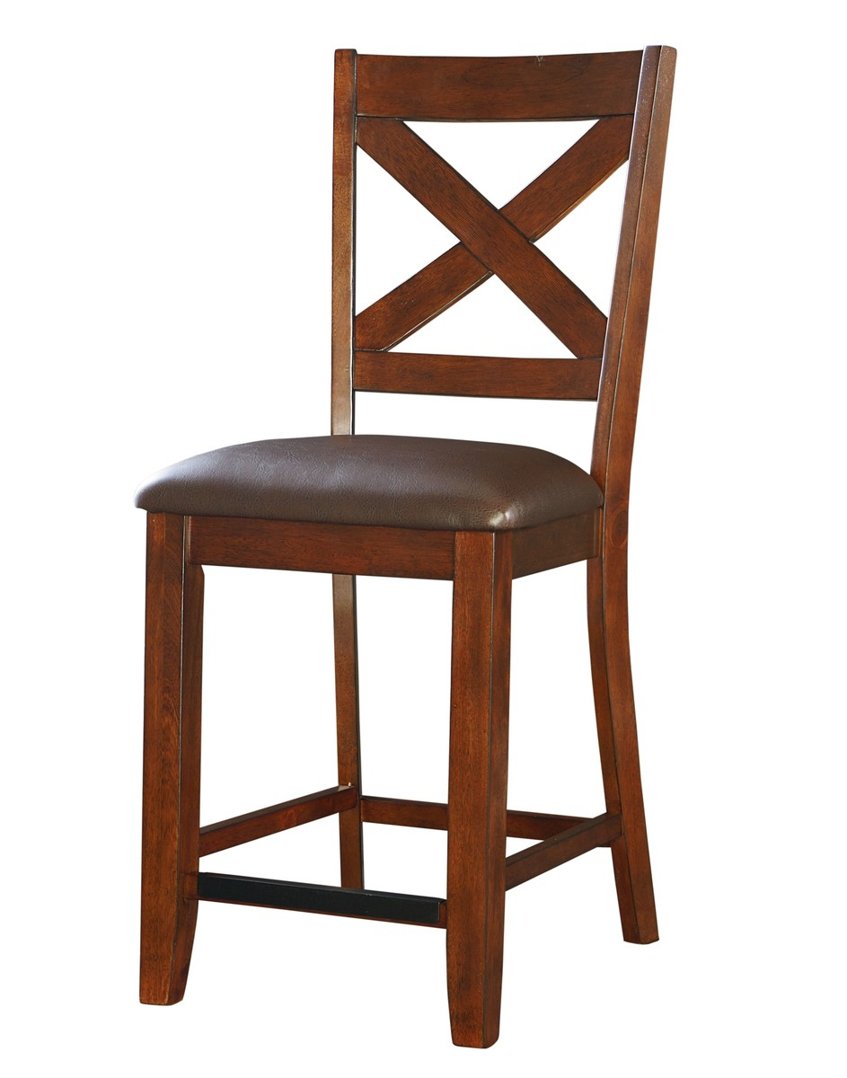 Standard furniture omaha x back counter height bar stool set of 2 in saddle brown 16194 by - Standard counter height stool ...