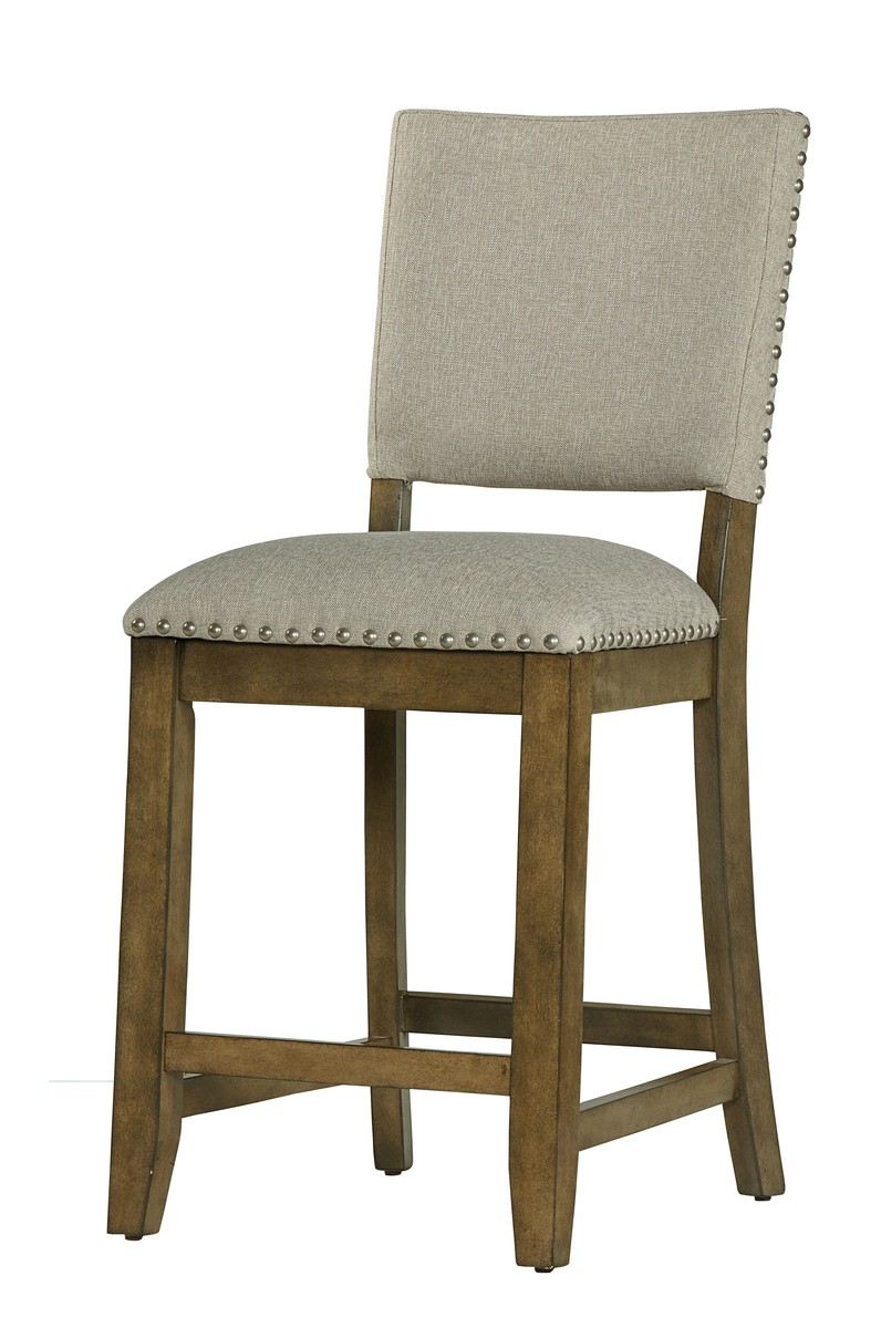 Standard furniture omaha upholstered counter height bar stool set of 2 in grey 16697 by dining - Standard counter height stool ...