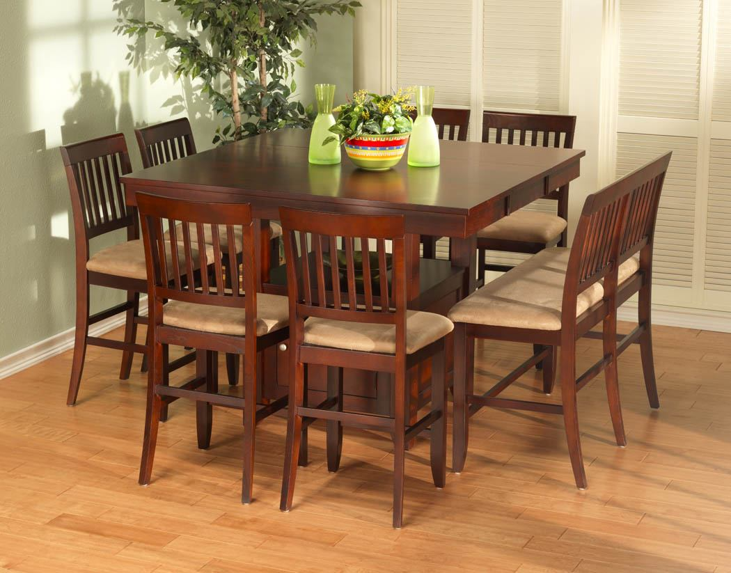 new classic brendan 8pc counter height dining table set in espresso 04 0705 - Height Of Dining Room Table