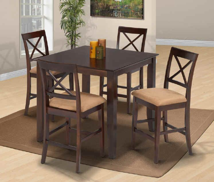 New Classic Crosswinds 5pc Counter Dining Table Set in Cappuccino 04-1712