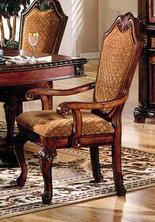 Acme Chateau De Ville Arm Chairs in Cherry 04078 (Set of 2) PROMO