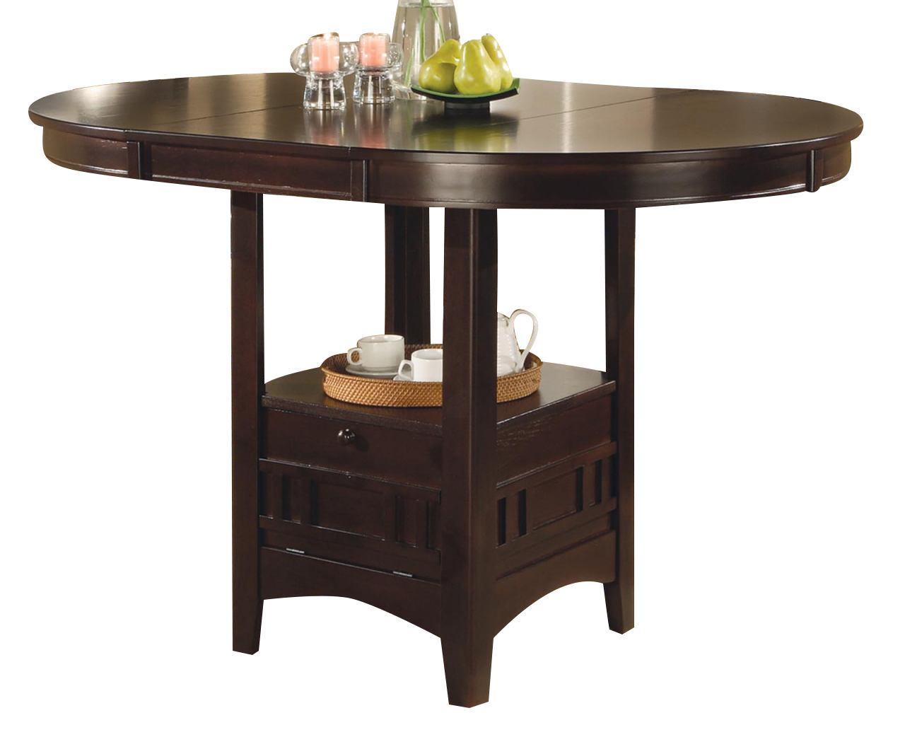 Coaster Lavon Counter Height Table in Cappuccino 102888