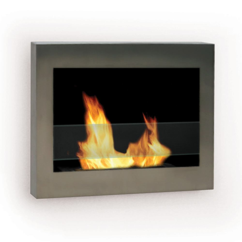 Anywhere Fireplace Soho Wall Mount Fireplace in Stainless Steel