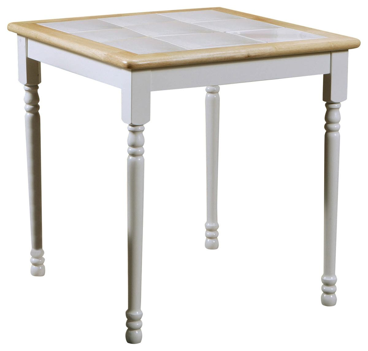 Coaster Dining Table in White and Natural Finish 4191