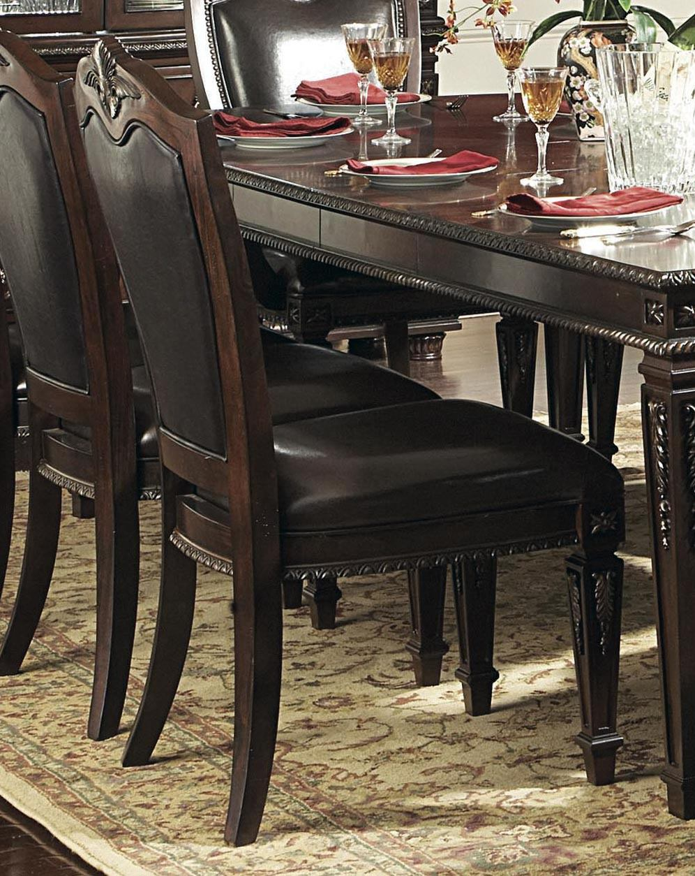 Homelegance Palace Side Chair in Rich Brown  (set of 2) 1394S