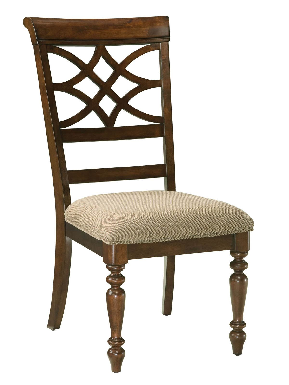 Standard Furniture Woodmont Upholstered Side Chair (Set of 2) in Cherry 19184