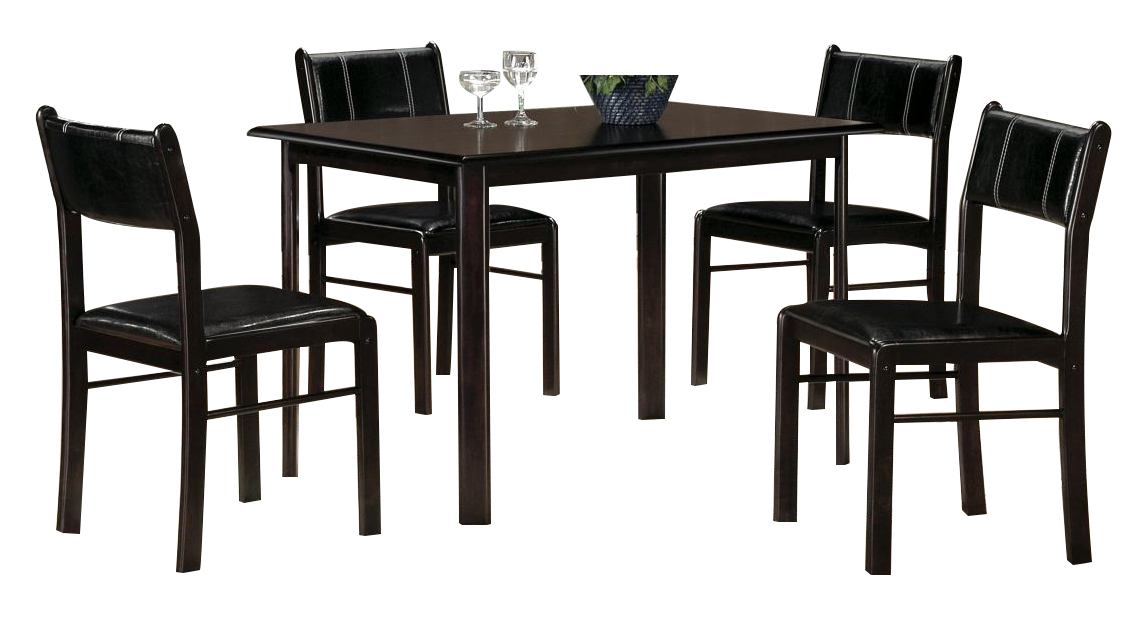 Homelegance Albany 5-Piece Dinette Table Set in Deep Espresso 5446