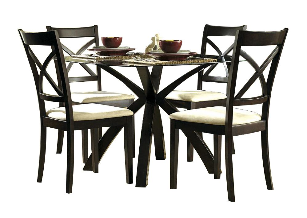 Homelegance Cantor 5-Piece Dinette Table Set in Warm Cherry 5380