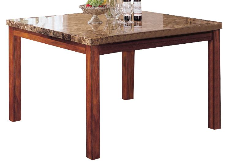 Acme Bologna Marble Top Square Counter Height Dining Table in Brown 07380
