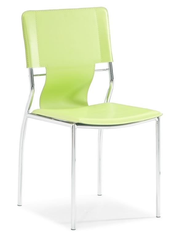 Zuo Modern Trafico Chair Green (Set of 2) 404134