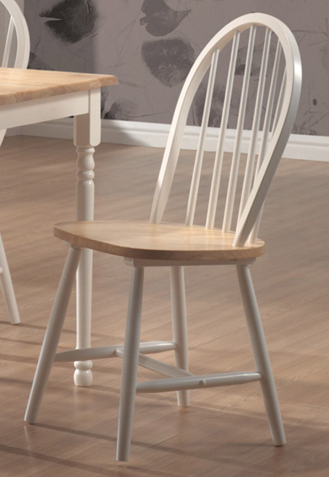 Coaster Side Chair in White and Natural Finish (Set of 4) 4129