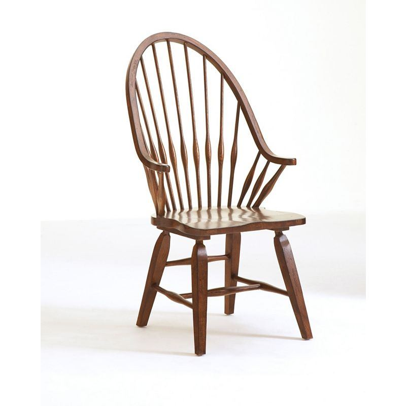 Broyhill Attic Heirlooms Windsor Arm Chair in Natural Oak Stain 5397-84S (Set of 2)