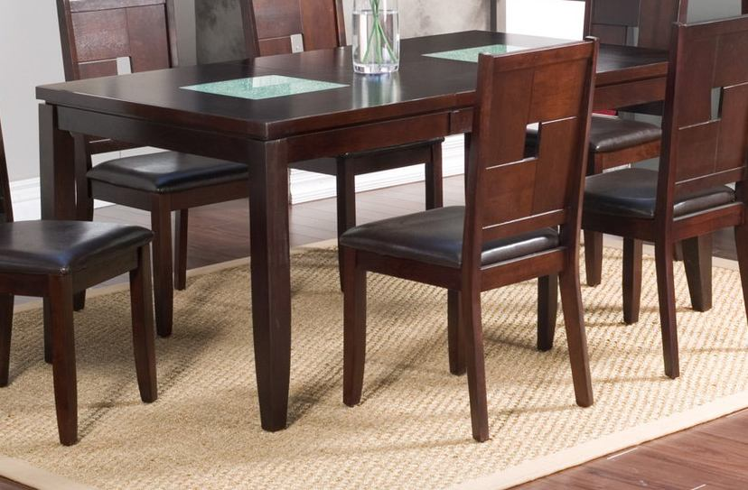 Alpine Furniture Lakeport Extension Dining Table in Espresso 551-01