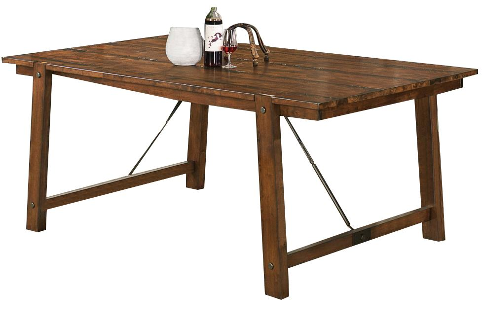 Coaster Lawson Rectangular Dining Table in Rustic Oak 103991