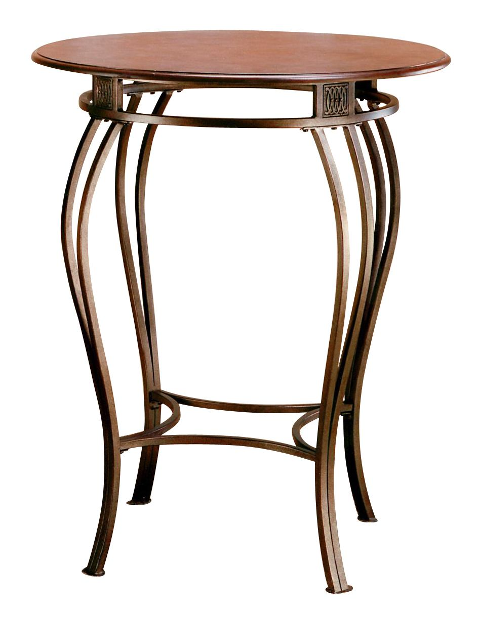 Hillsdale Montello Bar Height Bistro Table in Old Steel 41550-1
