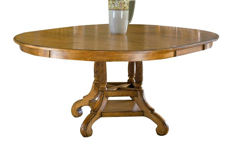 Hillsdale Wilshire Round Dining Table in Antique Pine 4507-816-817