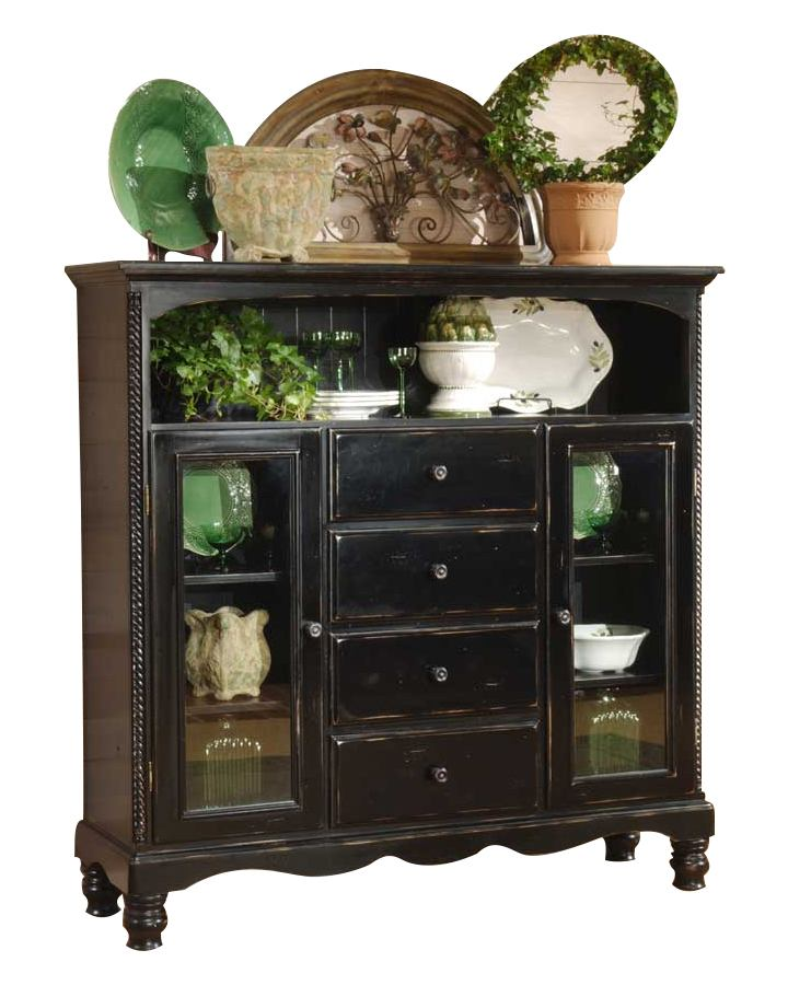 Hillsdale Wilshire Baker's Cabinet in Rubbed Black 4509-854