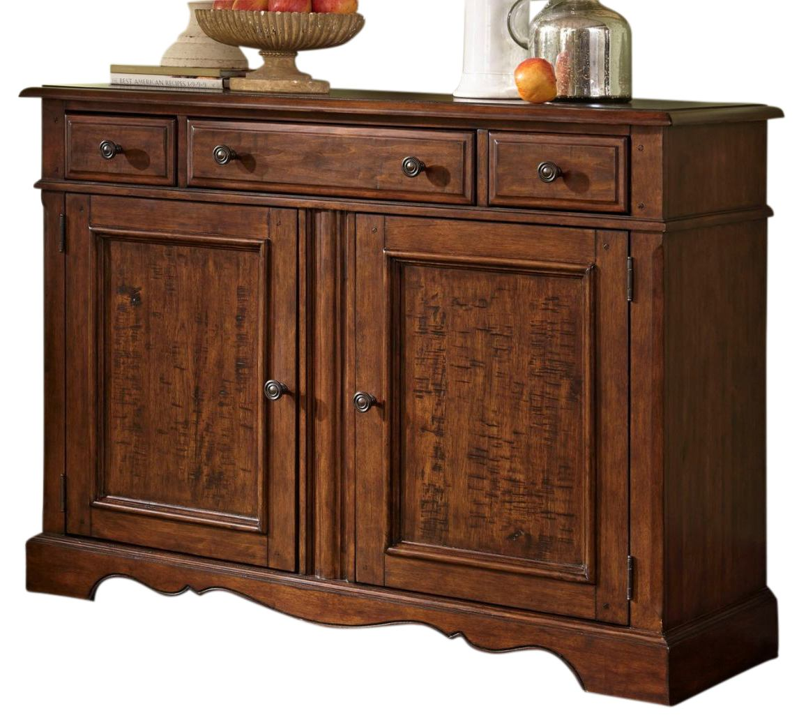 Liberty Furniture Woodland Creek Server in Rust Russet 606-SB5238