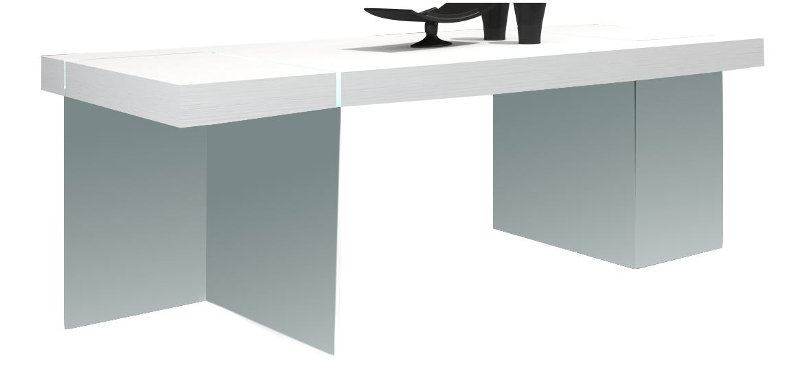 J&M Cloud Dining Table in White High Gloss 176971-T-HG