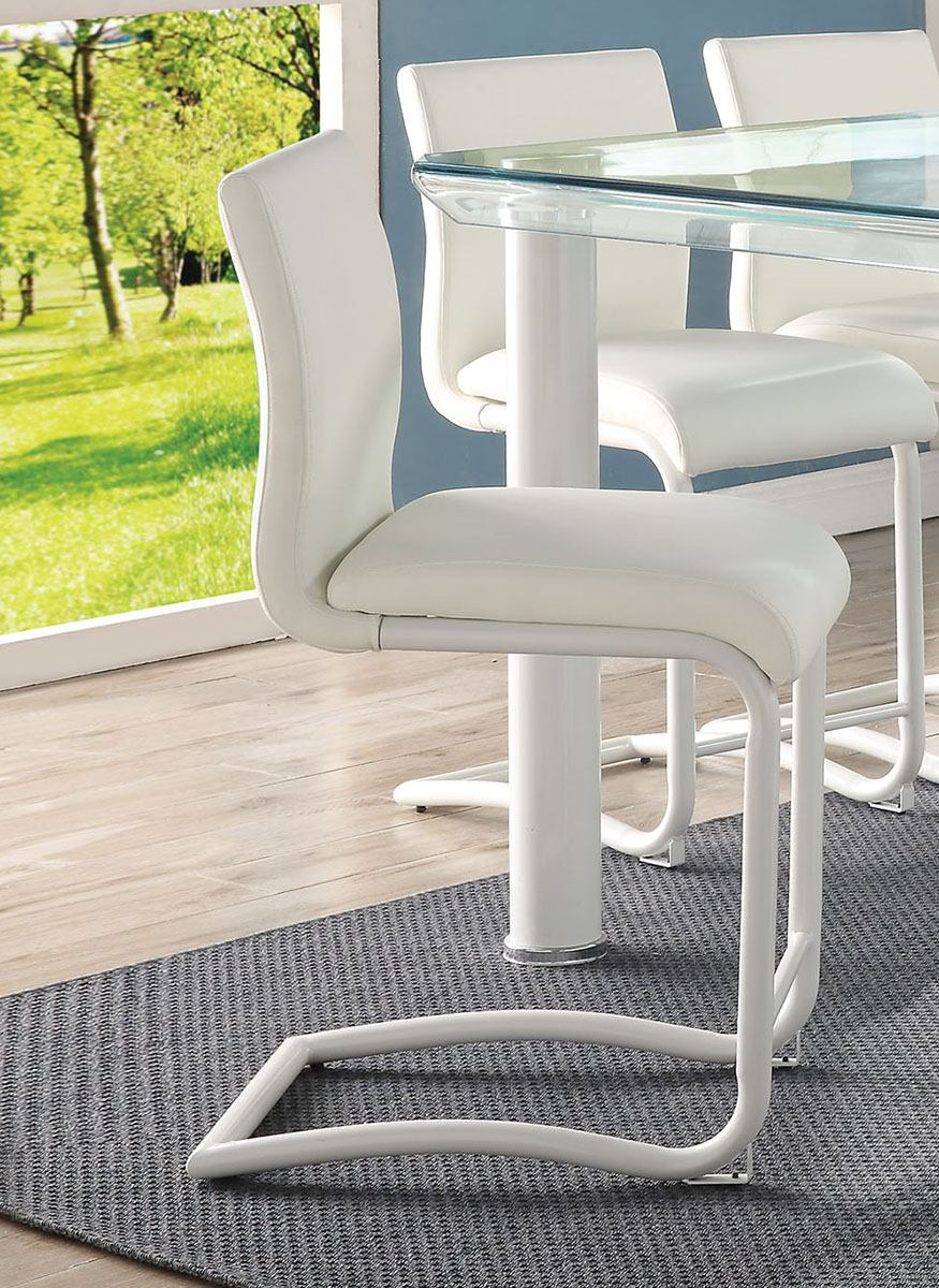 Acme Furniture Gordie Counter Height Chair in White (Set of 2) 70252